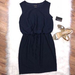 Enfocus Studio Sz 10 navy blue midi dress